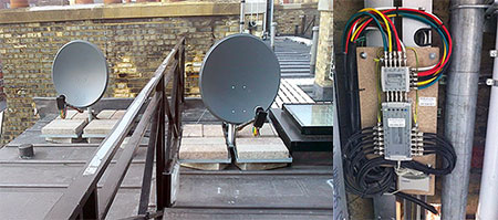 Digital Terrestrial TV, FM & DAB radio, FreeSat, FreeSat Plus/HD, SKY Digital (Sky PLUS/ HD) and Hotbird 13°E installation